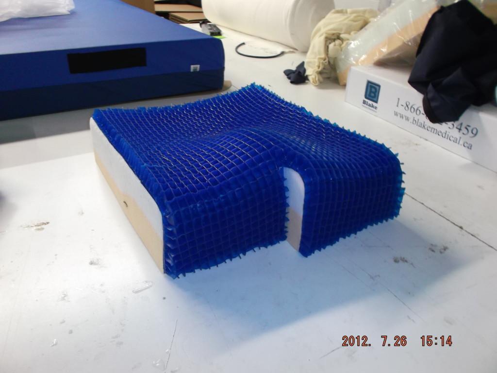 wheelchair cushion from blake medical hybrid deep