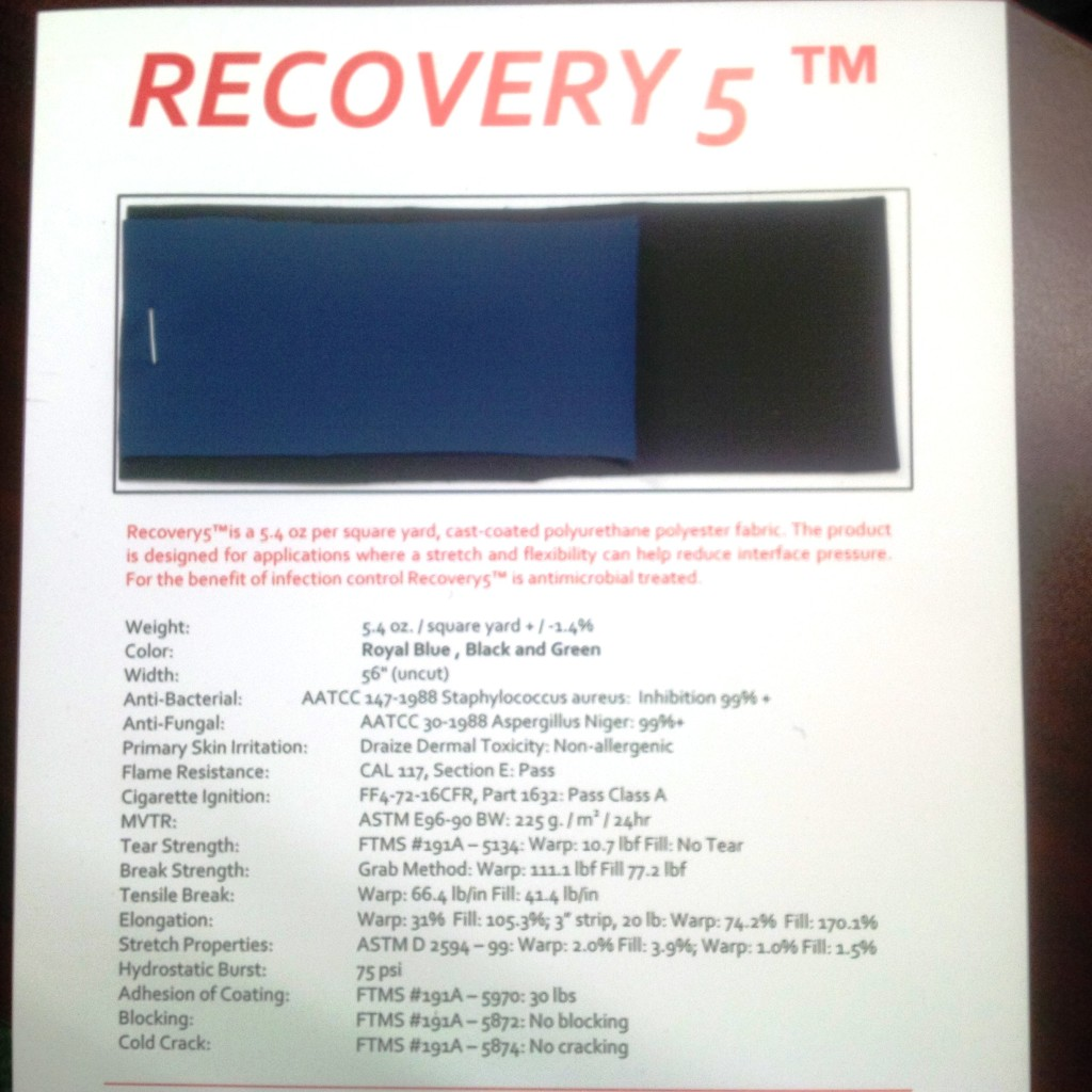 Recover 5 Specifications