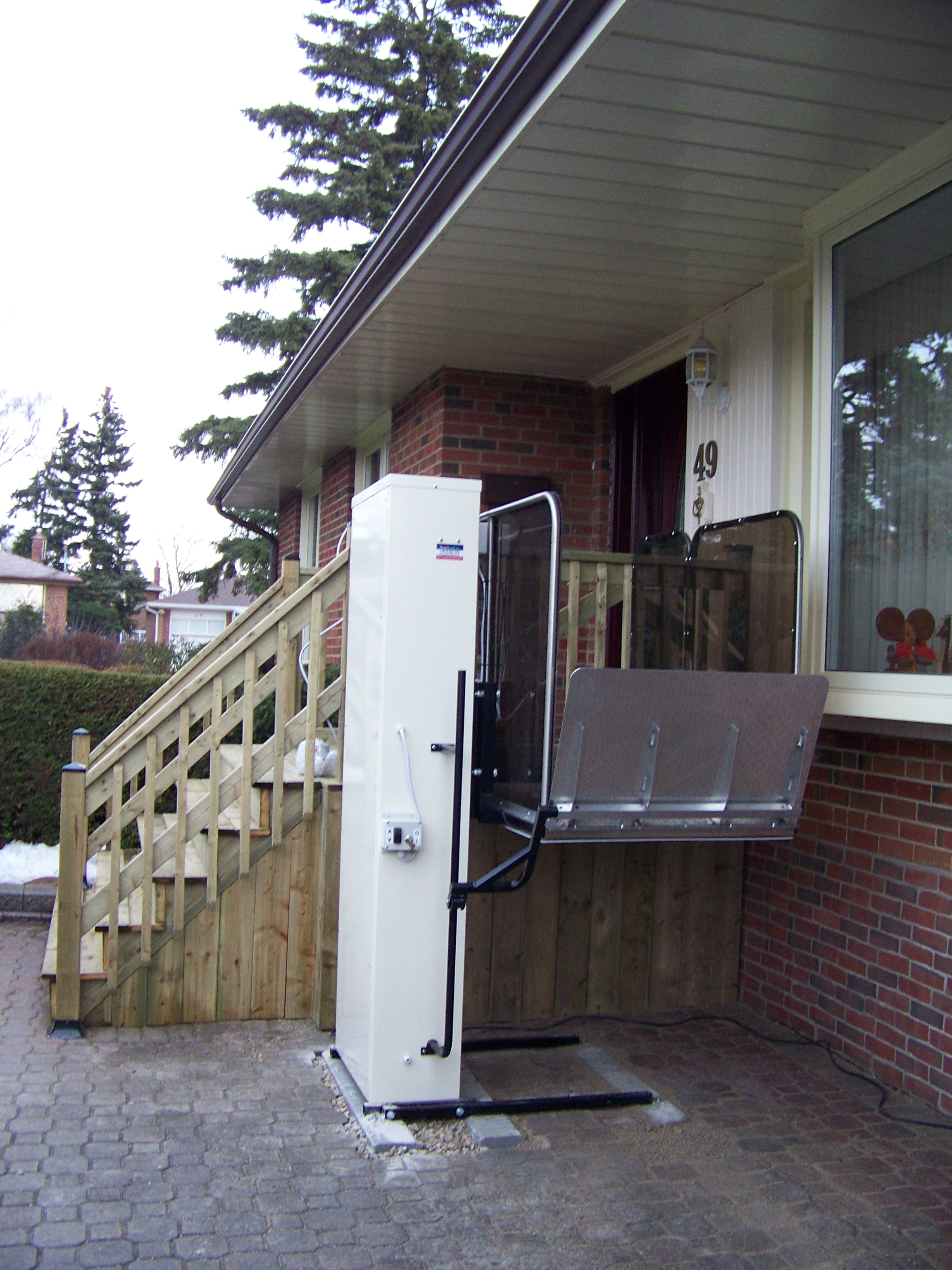 wheelchair enter image lift stacks porch liftele f home to accessibility or leave