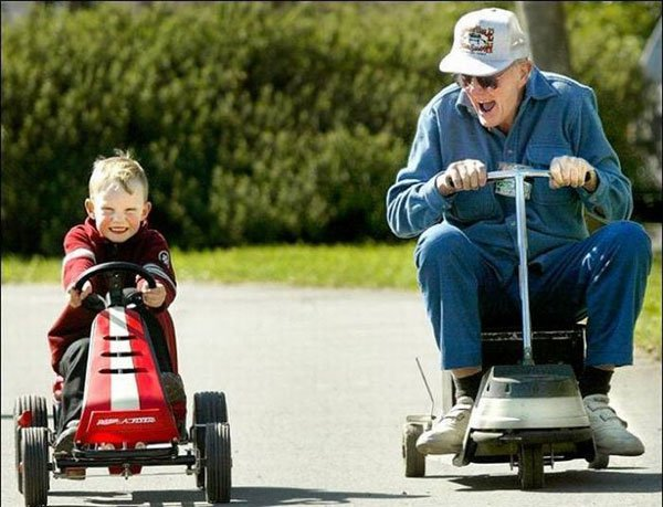 Image result for old man and kid