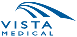 vista medical logo blue on white